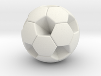Soccer Ball (White Hexagon Body) in White Strong & Flexible