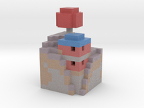 mushroom house in Full Color Sandstone