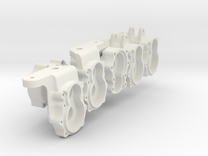 Portalachsen v2.03 Set für 4x4 in White Strong & Flexible