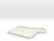 ErgoDox Bottom Right Case (flat) in White Strong & Flexible