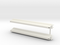 2 st barrier schaal 1:87 in White Strong & Flexible