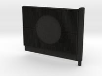 Beton Schallschutzwand mit Kreiselement V1 1 stl in Black Acrylic