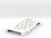 "iPhone 5 Case - ""Hex Holes"" in White Strong & Flexible Polished"