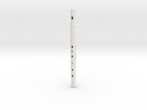 Pflute, soprano, tapered bore in White Strong & Flexible