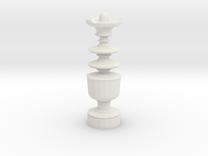 Smaller Staunton King Chesspiece in White Strong & Flexible