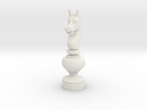 Smaller Staunton Knight Chesspiece in White Strong & Flexible