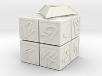Magic100Cube mini in White Strong & Flexible
