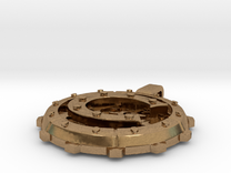 "Steampunk Monogram Pendant ""C"" in Raw Brass"