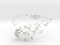 New Dandelion Necklaces in White Strong & Flexible