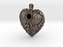Think With Your Heart Pendant (Hollowed) in Stainless Steel