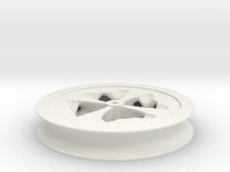 Fat Wheel in White Strong & Flexible