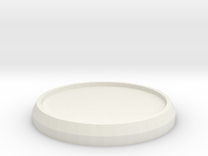 1 Inch Round Base in White Strong & Flexible