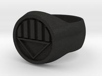 Black Lantern Ring Size U in Black Acrylic