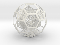 Dodecahedron in Truncated Icosahedron with pentag in White Strong & Flexible