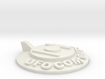 UFOCombat.com UFO 1 in White Strong & Flexible