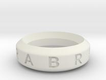 Abracadabra Ring in White Strong & Flexible