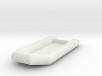Zodiac Boat 1:100 (type 3) in White Strong & Flexible