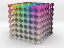 HSV/HSB Color Cube: 3.5 inch in Full Color Sandstone