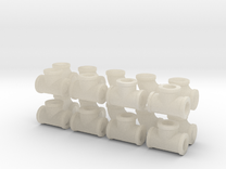"""7/8"""" scale pipe fittings: 2"""" pipe in White Acrylic"""