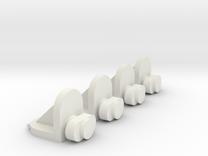 4x Twist-in Shelf Pin in White Strong & Flexible