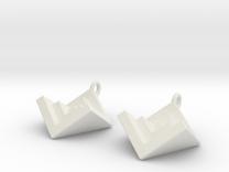 NestedCube Earring in White Strong & Flexible
