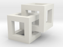 10mm Linked Cubes in White Strong & Flexible