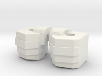 Simpfied Combinder fists for Kabaya set 7  in White Strong & Flexible
