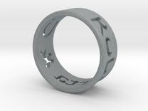 Ring in Polished Metallic Plastic