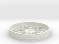 100mmFloppyBotWheel-03 in White Strong & Flexible