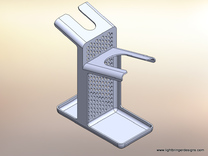 Combo Razor Stand XL in White Strong & Flexible