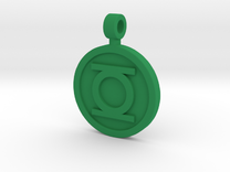 Orig. Hal Symbol Pendant in Green Strong & Flexible Polished