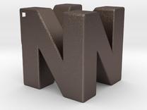 N64 Logo Pendant - Hollow in Stainless Steel