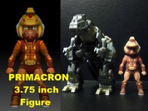 Primacron homage Space Monkey 3.75inch Mini Figure in Full Color Sandstone