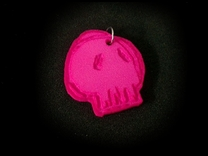 Flangipanis Skull in Pink Strong & Flexible Polished
