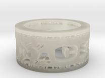 HIAC Prediction Winner Ring Ring Size 8.5 in Transparent Acrylic