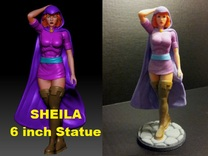 Sheila of D&D 6inch Statue in Full Color Sandstone