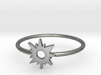 Sun Midi Ring 16mm inner diameter by CURIO in Polished Silver
