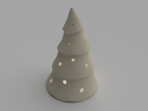 Candle Cover   Christmas Tree in White Strong & Flexible