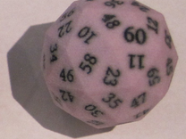 Light Purple d60 in Full Color Sandstone
