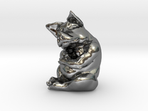 Piggy 3 Inches Tall in Polished Silver