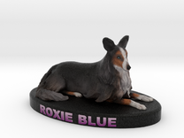 Custom Dog Figurine - Roxie in Full Color Sandstone