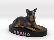 Custom Dog Figurine - Sasha in Full Color Sandstone