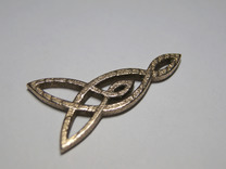 Triquetra Celtic Necklace Left Piece in Stainless Steel