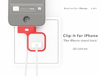 Clip-it US edition in Red Strong & Flexible Polished