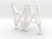 NIX91-Rear Replica Arms SLS in White Strong & Flexible Polished
