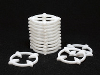 Crosshair Tokens (x12) in White Strong & Flexible