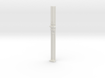 Miniature 1:48 Corinthian Pilaster in White Strong & Flexible