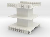 AMCC10 c-core bobbin - dual chamber - 44pin in White Strong & Flexible