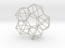 Vector Equilibrium 5 Symmetry 20cm in Sandstone
