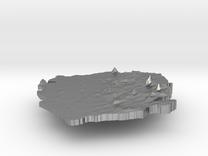 Sierra Leone Terrain Silver Pendant in Raw Silver